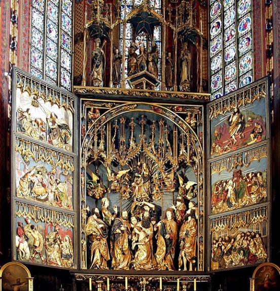 ołtarz Wita Stwosza w Krakowie   Veit Stoss altarpiece in Kraków